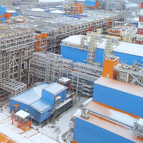 Gas inlet facilities. Yamal LNG