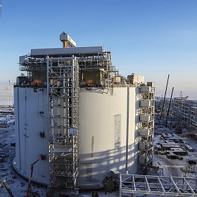Fire protection of top platforms of the LNG storage tanks. Yamal LNG