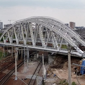 Reconstruction of the overpass for 3 km PK3 (oblique overpass) in Moscow. Railroad bridge